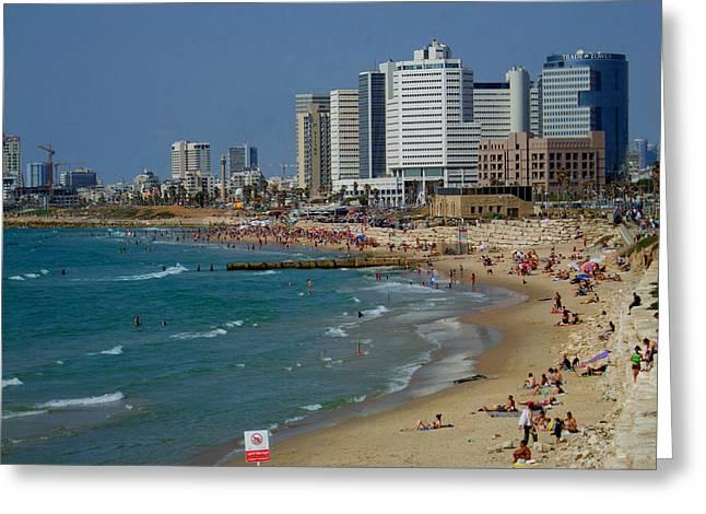 Yafo Greeting Cards - Old Jaffa beach - Tel Aviv Israel Greeting Card by Joshua Benk