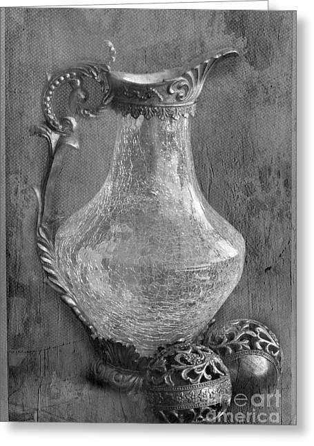 Water Jug Greeting Cards - Old Jug Greeting Card by Taschja Hattingh