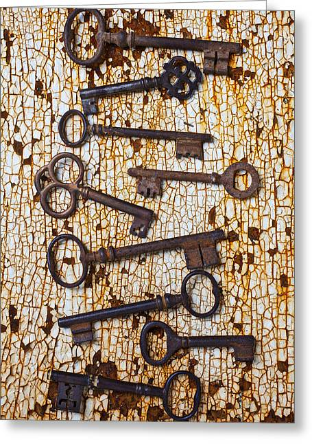 Old Keys Greeting Card by Garry Gay
