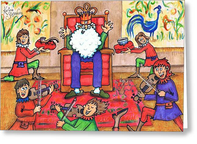 Nursery Rhyme Drawings Greeting Cards - Old King Cole Greeting Card by Kerina Strevens