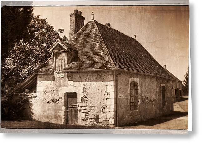 Chateau Greeting Cards - Old Kitchen House Greeting Card by Debra and Dave Vanderlaan