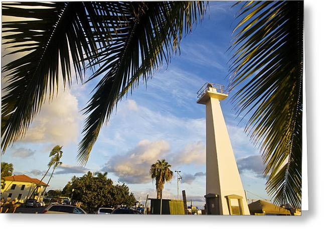 Lahaina Greeting Cards - Old Lahaina Lighthouse Greeting Card by David Cornwell/First Light Pictures, Inc - Printscapes