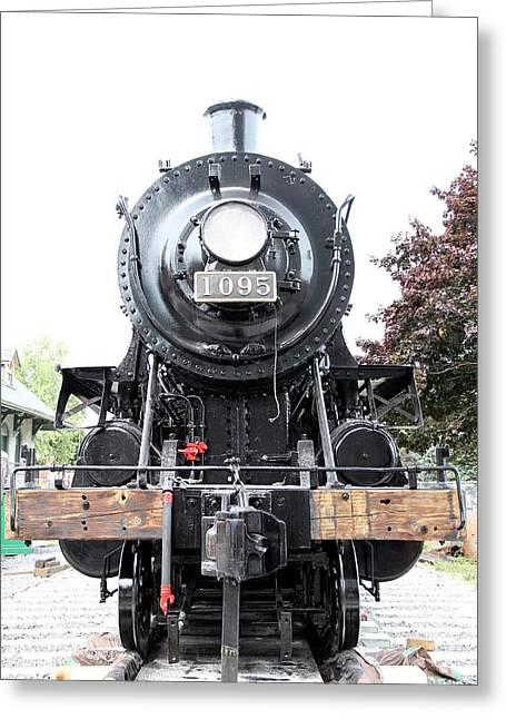 Kingston Greeting Cards - Old Locomotive Greeting Card by Valentino Visentini