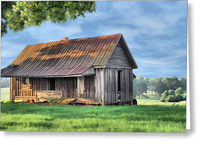 Old Cabins Greeting Cards - Old Log Cabin Greeting Card by Kenneth Mucke