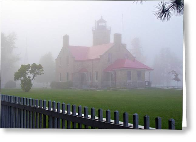 Old Mackinac Point Lighthouse Greeting Card by Brian Lambert