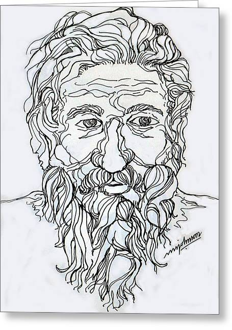 Old Man 2 Greeting Card by Johnson Moya