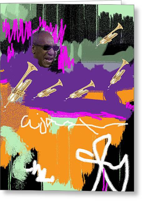 Michael Jackson Art For Sale Greeting Cards - Old Man Cosby Greeting Card by Harlan Lovestone