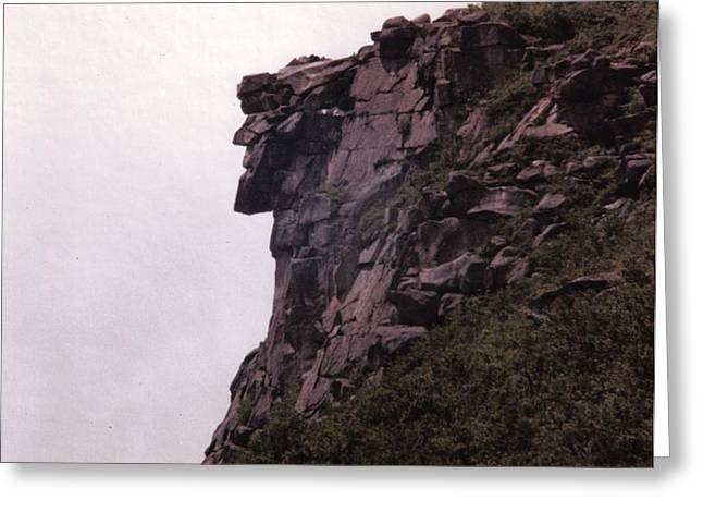 Old Man of the Mountain Greeting Card by Wayne Toutaint
