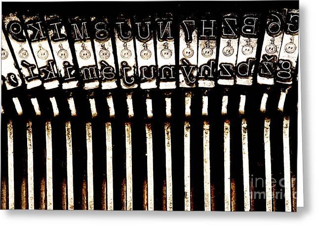 Typewriter Greeting Cards - Old Matrix Typewriter Greeting Card by Michal Boubin