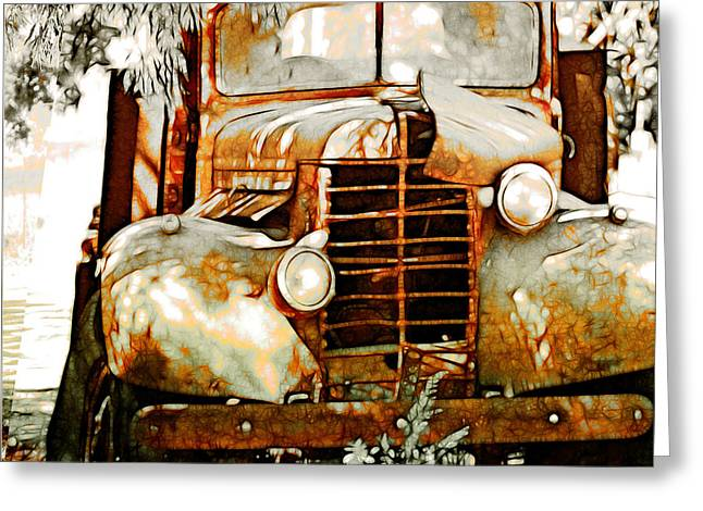 Headlight Greeting Cards - Old Memories Never Die Greeting Card by Holly Kempe