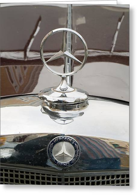 Valuable Objects Greeting Cards - Old Mercedes logos Greeting Card by Odon Czintos