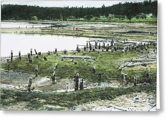 Whidbey Island Greeting Cards - Old Mill at End of Penn Cove Greeting Card by Perry Woodfin