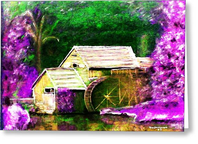 Mills Pastels Greeting Cards - Old Mill Greeting Card by Melvin Moon