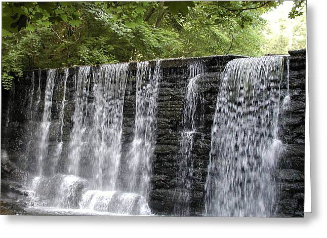 Water Fall Greeting Cards - Old Mill Waterfall Greeting Card by Bill Cannon