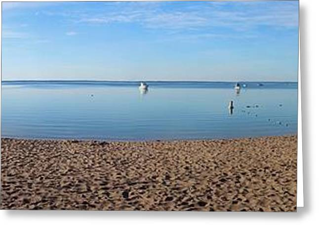 Traverse City Greeting Cards - Old Mission Harbor Greeting Card by Twenty Two North Photography