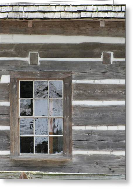 Old Cabins Greeting Cards - Old Mission Reflections Greeting Card by Kelly Mezzapelle
