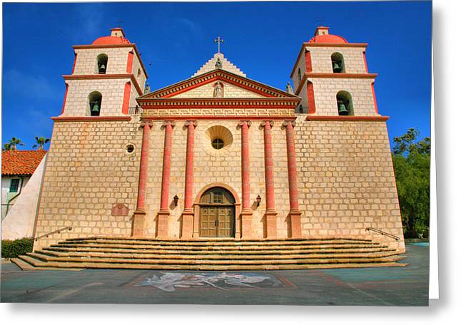 View Framed Prints Greeting Cards - Old Mission Greeting Card by Steven Ainsworth