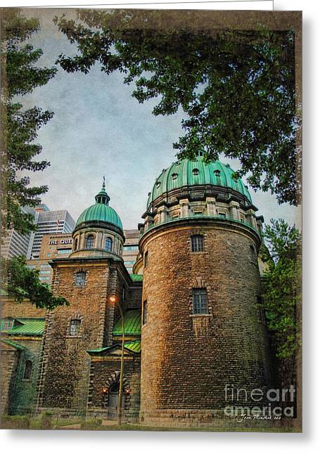 Old Montreal Church Greeting Card by Joan  Minchak