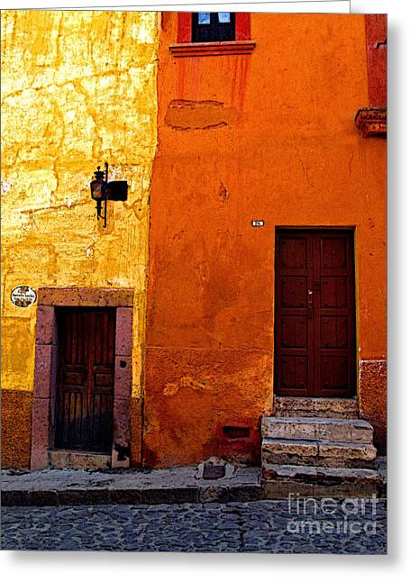 San Miguel De Allende Greeting Cards - Old Neighbors Greeting Card by Olden Mexico