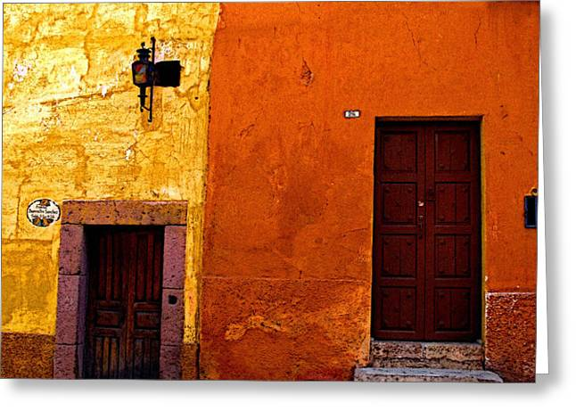 Old Neighbors Greeting Card by Olden Mexico