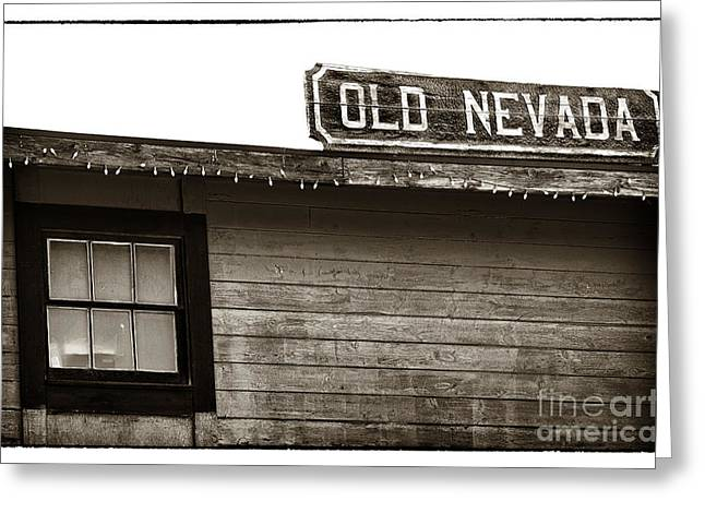 Contemporary Cowboy Gallery Greeting Cards - Old Nevada Greeting Card by John Rizzuto