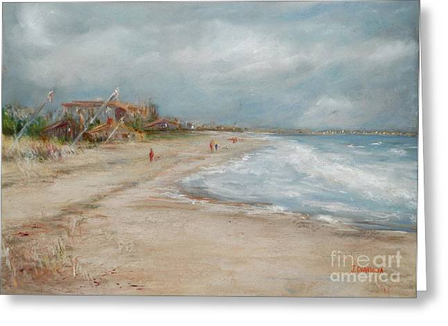 Maine Beach Pastels Greeting Cards - Old Orchard Beach Greeting Card by Joyce A Guariglia