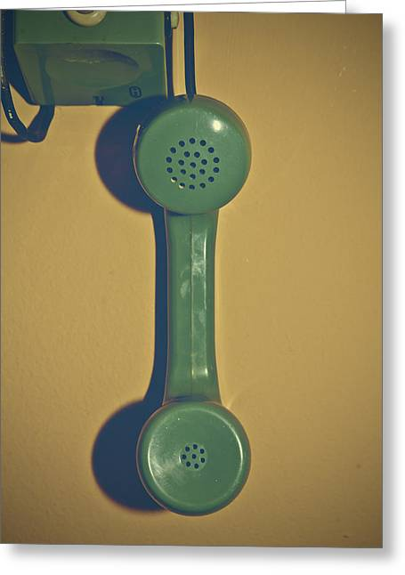 Handset Greeting Cards - Old Phone Greeting Card by Joana Kruse