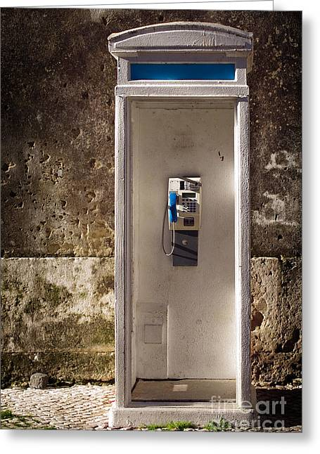 Old Cabins Greeting Cards - Old phonebooth Greeting Card by Carlos Caetano