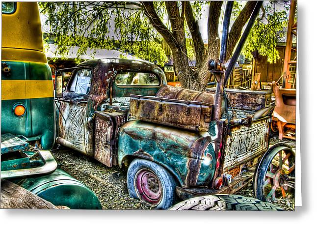 Old Relics Greeting Cards - Old Pickup Greeting Card by Jon Berghoff