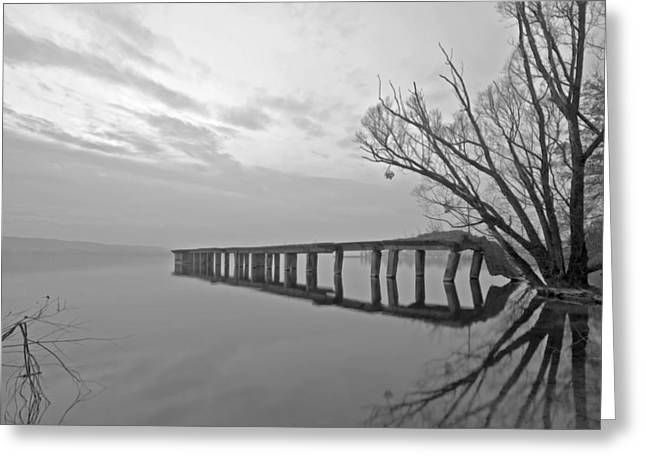 Lago Greeting Cards - Old Pier Greeting Card by Joana Kruse