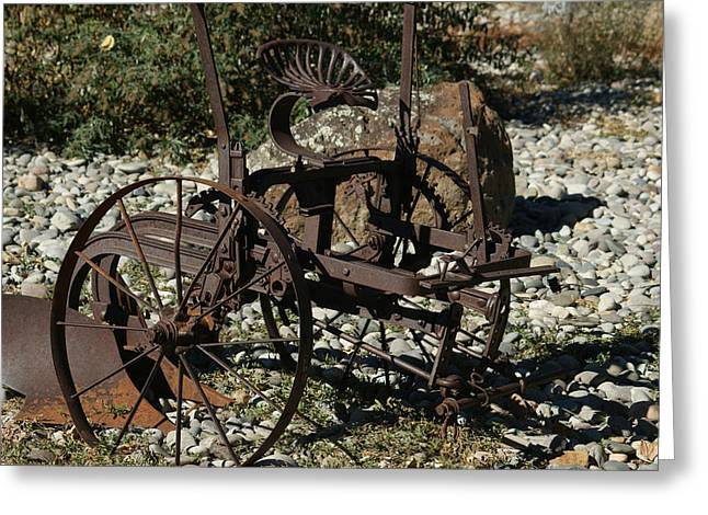 Old Plows Greeting Cards - Old Plow 2 Greeting Card by Ernie Echols