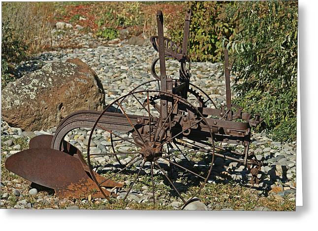 Old Plows Greeting Cards - Old Plow Greeting Card by Ernie Echols