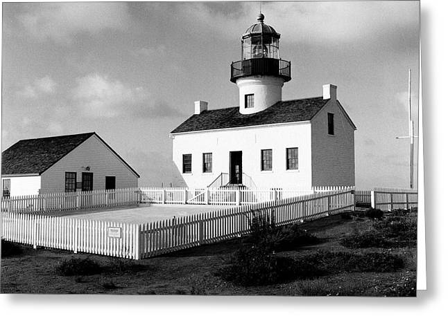 Old Point Loma Lighthouse Greeting Card by Dean Robinson