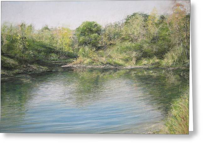 Puddle Pastels Greeting Cards - Old Pond Greeting Card by Harry  Kellow