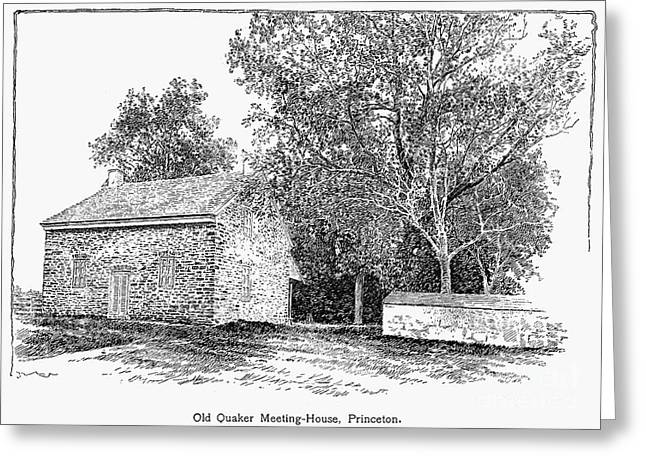 Quaker Greeting Cards - Old Quaker Meeting House Greeting Card by Granger