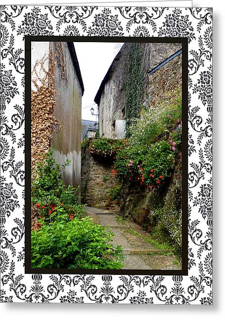 Quartier Greeting Cards - Old Quarter with border Greeting Card by Carla Parris
