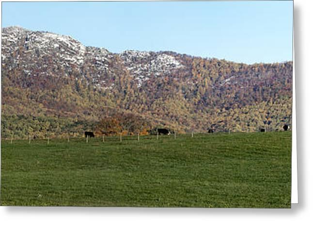 Ragged Peaks Greeting Cards - Old Rag Mountain Virginia - Panorama Greeting Card by Brendan Reals