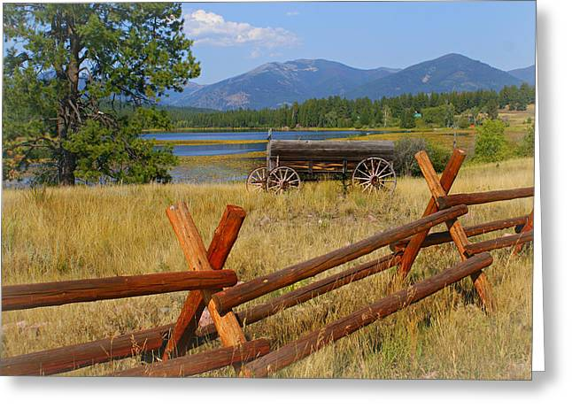 Old Ranch Wagon Greeting Card by Marty Koch