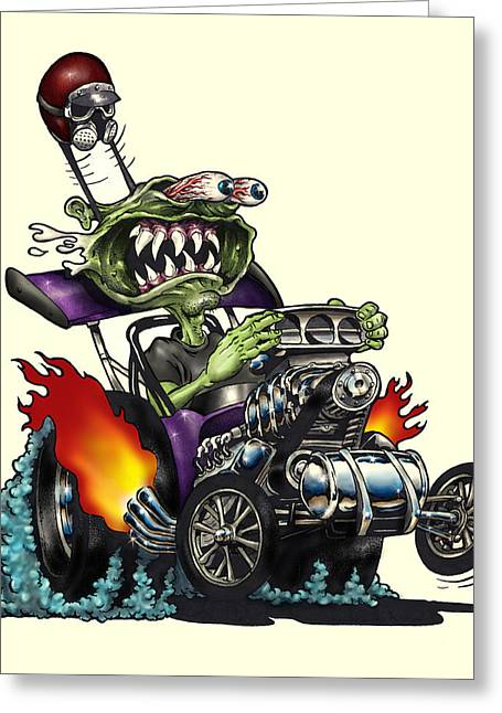 Drag Mixed Media Greeting Cards - Old Rod Greeting Card by Jon Towle