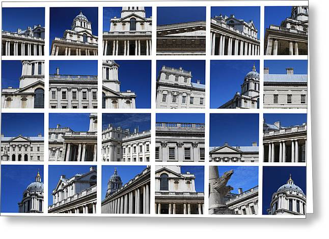 Royal Naval College Greeting Cards - Old Royal Naval College Greenwich London Greeting Card by Pauline Cutler