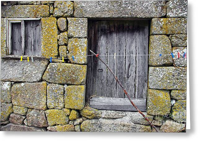 Medieval Entrance Photographs Greeting Cards - Old Rural House Greeting Card by Carlos Caetano
