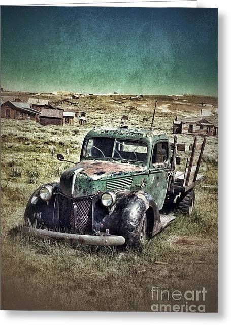 Old Rusty Truck Greeting Card by Jill Battaglia