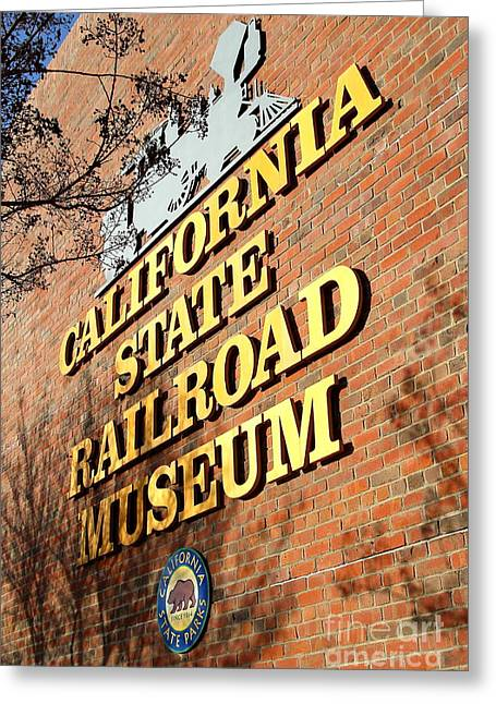 Old Sacramento Greeting Cards - Old Sacramento California . California State Railroad Museum . 7D11712 Greeting Card by Wingsdomain Art and Photography