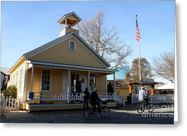 Old Sacramento California . Schoolhouse Museum . 7D11578 Greeting Card by Wingsdomain Art and Photography