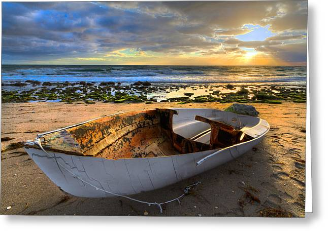 Print Photographs Greeting Cards - Old Salty II Greeting Card by Debra and Dave Vanderlaan