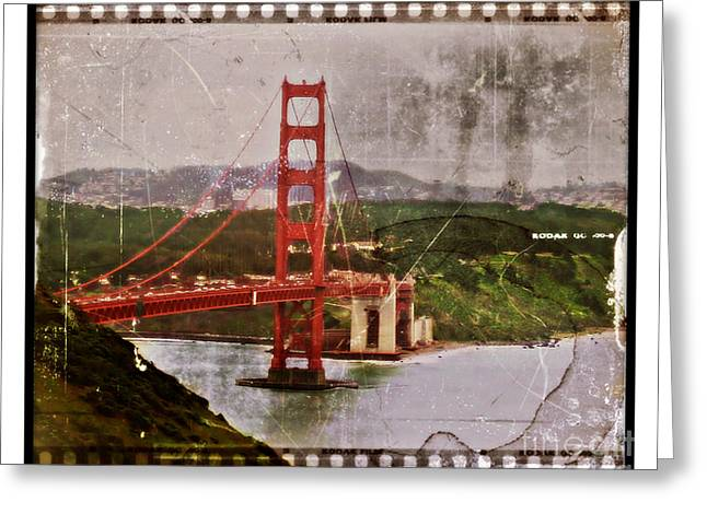 Old West Postcards Greeting Cards - Old San Fran Greeting Card by Perry Webster