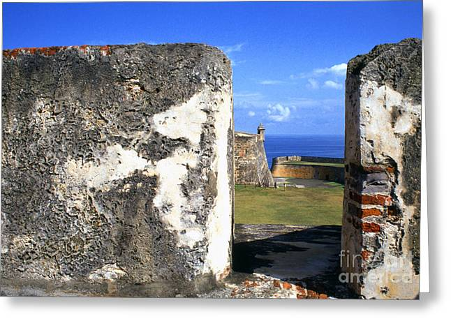 Puerto Rico Greeting Cards - Old San Juan Fortress Greeting Card by Thomas R Fletcher