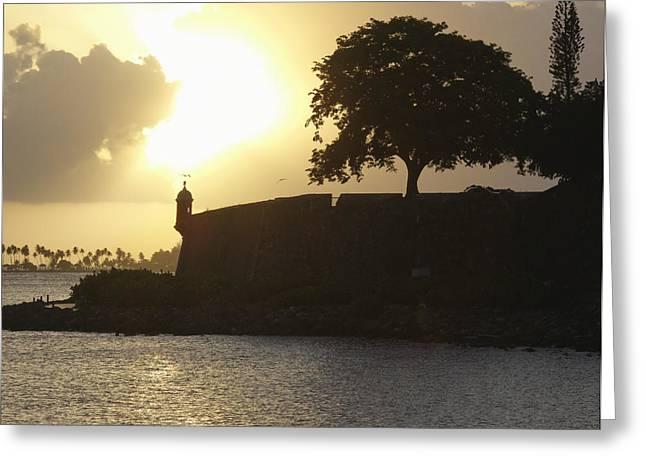 Old San Juan Greeting Cards - Old San Juan Sunset Greeting Card by George Oze