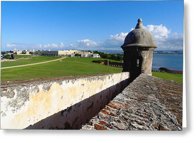 Puerto Rico Greeting Cards - Old San Juan View from El Morro Fort Greeting Card by George Oze