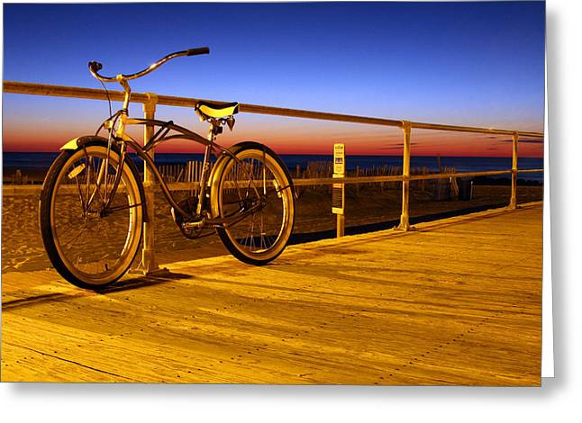 Beach Cruiser Greeting Cards - Old School Greeting Card by Jeff Bord